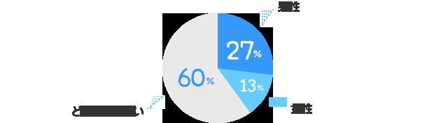 男性:27%、女性:13%、どちらでも良い:60%