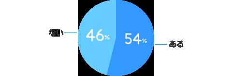 ある:54%、ない:46%